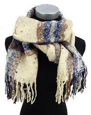 Damenschal beige blau braun bunt Ella Jonte lange Fransen Herbst Winter new in