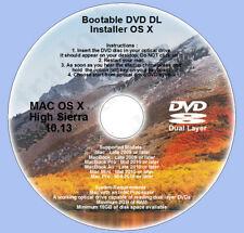 DVD DL, Mac OS X 10.13 High Sierra Full OS Install Reinstall Recovery Upgrade