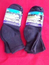 4 Pair Prima Sport Black Mens Golf Quarter Socks Comfort Toe Seam 10-13