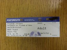25/05/2009 Ticket: Portsmouth v Friends Of Kanu [Charity Match] . Thanks for vie