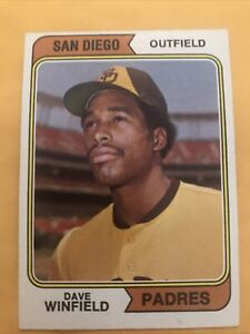 1974 Topps Dave Winfield San Diego Padres Rookie 456 Nice Card Free Shipping