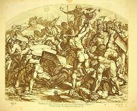Battle of Gibeon Joshua C x La Bible Nicolas Chaperon 1649 a Raphael Religion