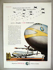 Douglas C-124 Globemaster Airplane PRINT AD - 1953 ~~
