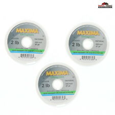 (3) Maxima Ultragreen Fishing Line Leader 2 lbs ~ New