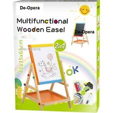 2 In 1 Children Kids Colour Wooden Blackboard Easel Stand Learning Board +Extras