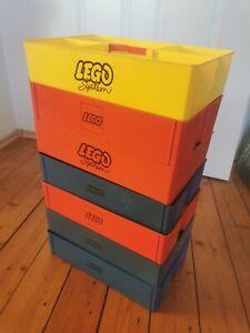 7 LEGO Sortierkasten Kiste Rot Stapelbox 70er Jahre Retro System Box Sortierbox