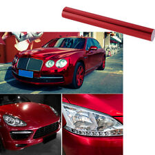 1.52Mx20cm Glossy Mirror Red Chrome Vinyl Film Car-Styling Wrap Sticker Decal
