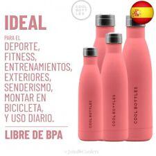 Botella de Agua de Acero Inoxidable | 500 ml | Botella T  (500 ml, Pastel Coral)