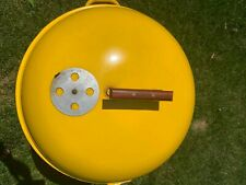 Weber Charcoal Bbq Vintage yellow 1970s
