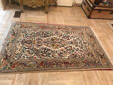 Persian Isfahan Silk Rug, insanely fine knotting 125x190cm Esfahan