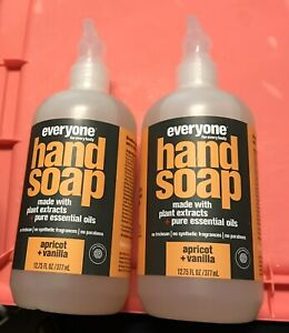 Everyone for Everybody Hand Soap Apricot Vanilla 12.75oz Lot Of 2 Pump