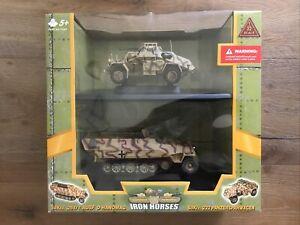 Ultimate Soldier 13231 Iron Horses Camo Recon Recce Armored Car & Halftrack 1/32