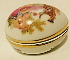 Vintage Small Limoges Egg Decorative France French