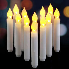 LED Battery Flameless Taper Candles Lights Dinner Wedding Xmas Home Party Decor