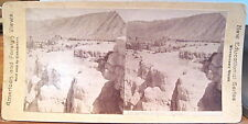 Yellowstone Park Stereoview CLEOPATRA TERRACE Mammoth Hot Sps New Edu Canvassers