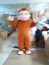 New Curious  Monkey  Mascot Costume Fancy Dress Adult Suit Size R119
