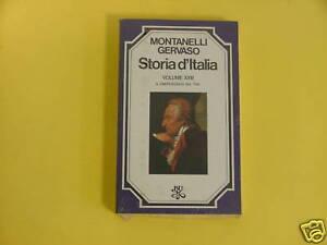 MONTANELLI-GERVASO*STORIA D'ITALIA VOL.XXIII. CREPUSCOLO DEL '700 - RIZZOLI