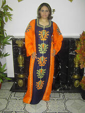 KAFTAN HAUSKLEID TUNIKA FESTKLEID ÄGYPTEN ABAYA HAUSKLEID  IN Orange- ABY00254