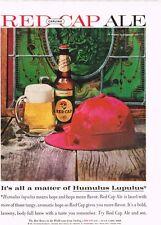 """Carling Red Cap Ale """"Humulus Lupulus"""" 8x11 paper Ad 1950 tavern Trove"""