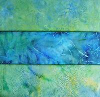 Patchworkstoff (€30/m²) 10 cm Bali Batik Blätter Zweige 1,1m breit