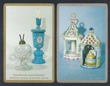 #930.969 vintage swap card -EXC pair- Museum Lamp Collection