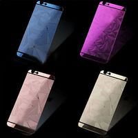 3D Diamond Tempered Glass Front+Back Screen Protector For iPhone4 5s 6 6splus HU