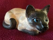 -Vintage Ceramic Siamese Cat Figurine, Handcrafted Cat Figurine For Cat Lover!