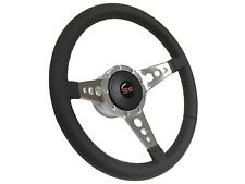 1969 - 1989 Red SS 9 Bolt / Tri Spoke Leather Steering Wheel & Hub & Button