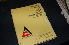 ALLIS CHALMERS HD11 B Tractor Crawler Dozer Owner Operator Operation Manual Book