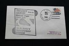 NAVAL SPACE COVER 1966 GEMINI GTA-10 RECOVERY SHIP USS W C LAWE (DD-763) (1125)
