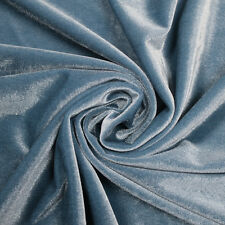 16+ Solid Colors Polyester Spandex Stretch Velvet Fabric by the Yard or Swatch