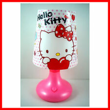 CUTE Heart Desk Bedside Night Table Lamp Decor Gifts For Hello Kitty + Charm