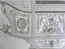 Détails MOTIF sculpture bois époque LOUIS XIV GRAVURE ADAMS MEUBLE XIXéme