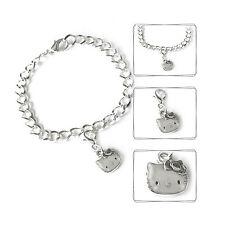 Armband Charmanhänger Katze Damen Bettelarmband Armkette Mode Armreif 20 cm NEU
