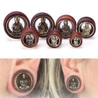 Buddha Ear Tunnels Flesh Tunnels  Ear Gauges Ear Plugs Body Piercing Jewelry Pw