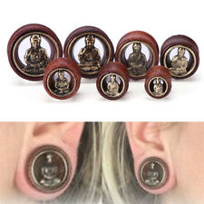 Buddha Ear Tunnels Flesh Tunnels  Ear Gauges Ear Plugs Body Piercing JewelrRASK