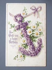 R&L Postcard: Flowers Floral Anchor, Birthday Greetings Daisies, Davidson Bros