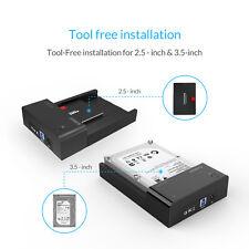 "ORICO SATA to USB 3.0 2.5"" 3.5 inch HDD Hard Drive Docking Station Enclosure BK"