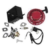 New Kit Fits Honda GX160 Carburetor Ignition Coil Recoil Muffler Spark Plug