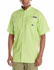 Columbia PFG Super Bonehead Men's Medium Short Sleeve Fishing Shirt Jade Lime