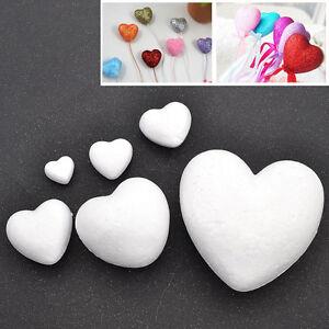 DIY Heart Shape Polystyrene Foam Model Craft Wedding Party Decoration Six Sizes