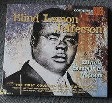 Blind Lemon Jefferson, black snake moan, CD - complete Blues