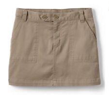 Lands' End Little Girl Uniform Skort Size: 6X (Large) New Ship Free Khaki Chino