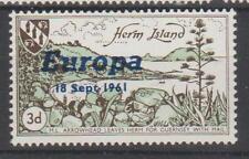 Herm Island Ovpt. Europa 18 Sept. 1961 UM