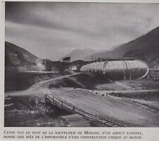 1951  --  VUE DE NUIT DE LA SOUFFLERIE DE MODANE   3G385