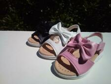 New Cute Sandals For Toddler Girls< Sizes Run Big, Colors White, Black & Pink.