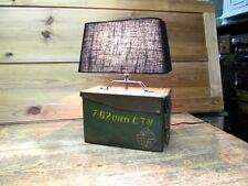 Tischlampe Metall Munitionskiste Alt Lampe Industriedesign