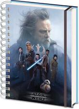 Star Wars der Jedi Besetzung 3d Cover A5 Wiro Notebook Journal Film Space