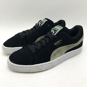 Puma Suede Speed Cat Shoes Women's Size 7.5 Black Flats Sneakers