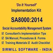 SA 8000:2014 Social Accountability System Manual, Forms, Training Slides, etc.